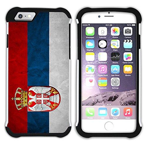 Graphic4You Vintage Uralt Flagge Von Kurdistan Kurdisch Design Hart + Weiche Kratzfeste Hülle Case Schale Tasche Schutzhülle für Apple iPhone 6 Plus / 6S Plus Serbien Serbisch