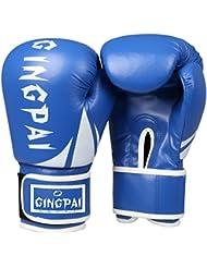 guantes de boxeo/ guantes de boxeo adulto saco de boxeo/ infantil guantes/Muay Thai pelea boxeo profesional guantes de boxeo/ guantes para hombres y mujeres-azul