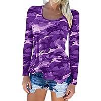 Damen Blusen Tuniken Oliviavan Bluse V-Ausschnitt Leopard Print Langarm Top Frauen Leopardenmuster T Shirts Lang Pulli