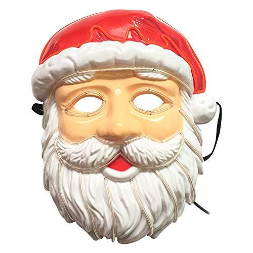 Père Noël LED Glow Masque pour les fêtes de Noël Festival Costume Cosplay