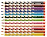 STABILO EASYcolors matite colorate Ergonomiche per Destrimani colori assortiti - Astuccio da 12
