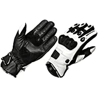 MBSmoto New Summer Short Mesh Leather Fully Vented Carbon Knuckle Motorcycle Bike Touring Glove L
