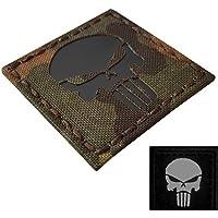 IR Flecktarn Punisher Skull 2x2 Infrared Laser Cut Bundeswehr Tactical Morale Touch Fastener Patch
