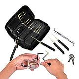 Lockpicking Set, ToWinle 24 Teiliges Dietrich Set Transparentem Schloss Lock Pick Set Dietrich Tool Lockpick für Anfänger und Pro Schlosser