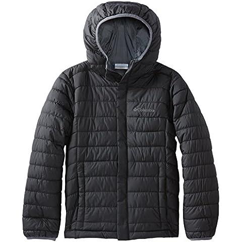Columbia Powder Lite Puffer - Chaqueta de invierno para niño, color negro, talla M
