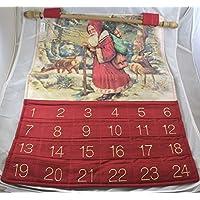 Calendario Avvento Stoffa Con Tasche 41x55 Cm -2 disegni disponibili da opzionare scelta
