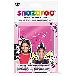 Snazaroo - Set de 6 plantillas de pintura facial, fantasía chicas