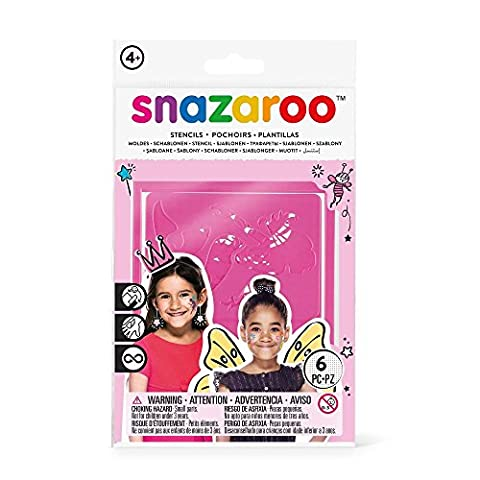 Snazaroo Girls Face Paint Stencils, Fantasy - Set of