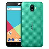 Ulefone S7 3G Smartphone Ohne vertrag günstig Android 7.0 5,0 Zoll HD 1280x720P MTK6580 1.3GHz Quad Core Dual Sim 1GB RAM+8GB ROM 128GB TF Karte Kapazität 8MP+5MP+5MP Kameras(Grün)