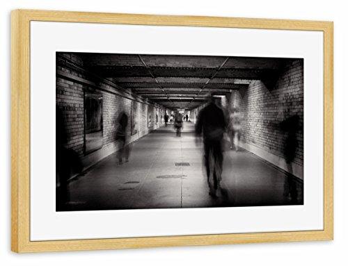 "artboxONE Poster mit Rahmen kiefer 75x50 cm ""Faceless #1"" von Pixum Edition - gerahmtes Poster"