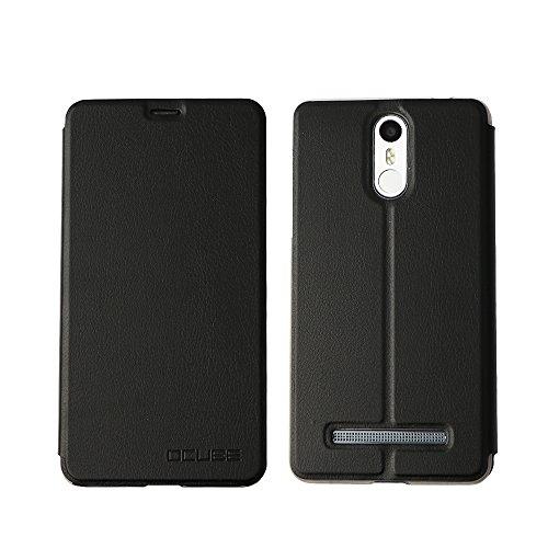 Leagoo M8 coque cover case, KuGi ® Leagoo M8 coque housse - le style BW ultra-mince affaire stand de haute qualité PU pour téléphone intelligent Leagoo M8 .(Noir)