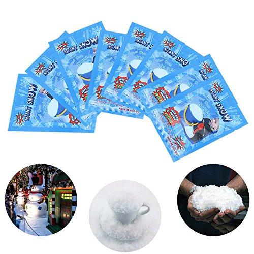 aaerp Instant Snow Fake Künstliche Schnee Magic Flauschig Fake Schnee Tolle Dekoration für Geburtstag Weihnachten Hochzeit