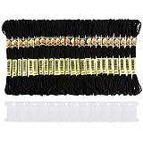 Flecos Bordados con borlas para Costura Xiton Color Negro Manualidades 3 m