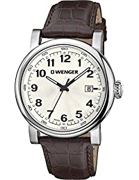 WENGER Herren-Armbanduhr WENGER URBAN CLASSIC 01.1041.114 Analog Quarz Leder WENGER URBAN CLASSIC 01.1041.114