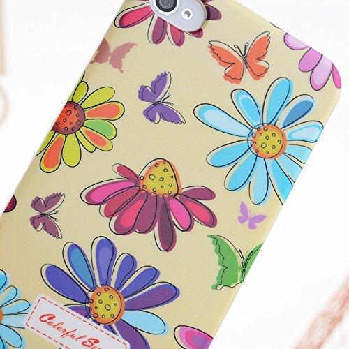 iPhone Case Cover Peinture couleur petites fleurs en plastique dur cas de couverture d'iPhone 4S Pour 4 ( Color : 9 ) 13