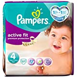 Pampers Active Fit Couches Taille 4 Pack Essential 37 couches
