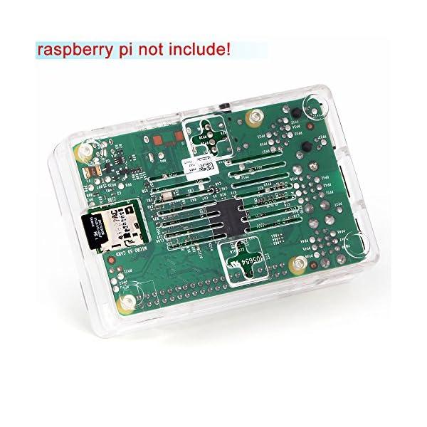 51onIOD%2BgyL. SS600  - Aukru NUEVO 3-EN-1 Kit de Raspberry Pi 2 Modelo B/B + transparente Caja + 5v 2000mA alimentación + 3 conjunto del disipador de calor