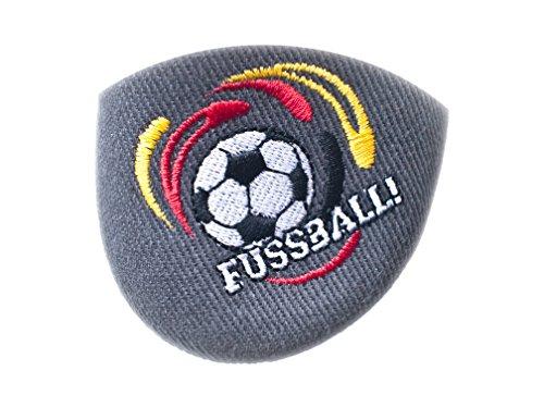 Jungen Hausschuhe Yaro 019, verschiedene Farben, Gr. 25 bis 36 grau/Fussball