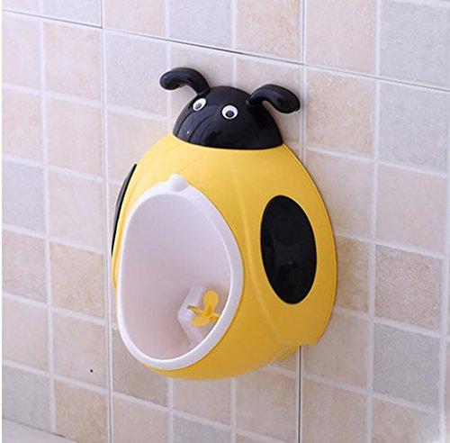 Töpfchen Boy Hanging Wall Urinals, Kinder Stehend Urinale, Jungs Happy Töpfchen Training (abnehmbar) Kinder Frosch Urinal (Farbe : Gelb)