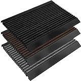 Fußmatte Power Brush mit Hochleistungs-Bürsten | TÜV geprüft | Rutschfeste Schmutzfangmatte mit Anlaufprofil | Bürstenmatte für draußen in verschiedenen Farben und Größen (schwarz, 40x60 cm)