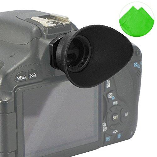 First2savvv DSLR reemplazo tapa del ocular y el ocular para para Canon EOS 100D 1200D 1100D 1000D 550D 500D 450D DSLR Camera + paño de limpieza - QJQ-TX-P-EF-BP01G11
