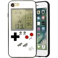 F-FISH ® para iPhone funda protectora de silicona para teléfono que puede jugar un juego clásico (Blanco, iphone 7 plus)