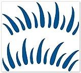 wandfabrik - Autoaufkleber 2 Wimpern (W1) in enzianblau