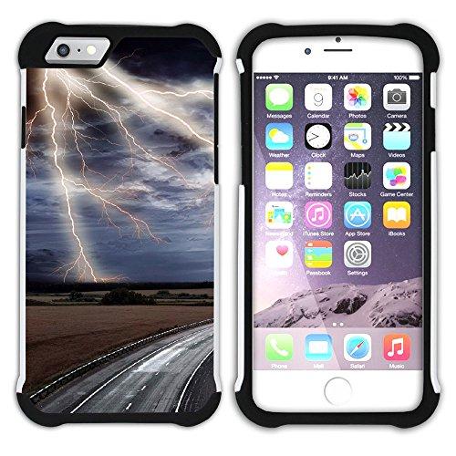 Graphic4You Blitz Blitzstrahl Sturm Hart + Weiche Kratzfeste Hülle Case Schale Tasche Schutzhülle für Apple iPhone 6 Plus / 6S Plus Design #13