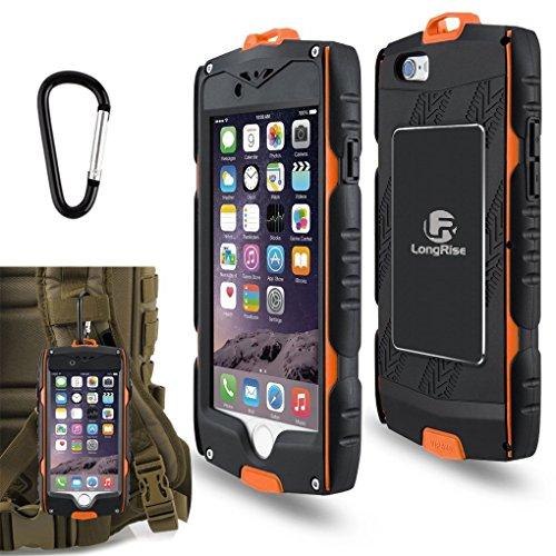 iPhone 6 Plus Heavy Duty Case: stoßfest [Tropfen Schutz] [fingprint Zuordnung] Schutzhülle für iPhone 6 Plus 6s Plus Outdoor Sport Hülle mit [Klettern und Wandern Haken], orange