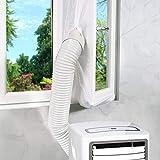 Maylove 400 cm afdichting voor mobiele airconditioners, airlock voor bevestiging aan ramen, dakramen, vleugelramen, geen boorgaten nodig