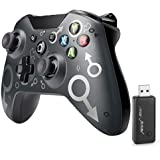 [2021 Newest Version] Xbox One Wireless Controller, Wireless PC Gamepad with 2.4GHZ Wireless Adapter, Compatible with Xbox On