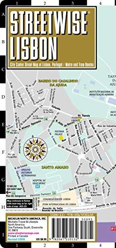 Streetwise Lisbon Map - Laminated City Center Street Map of Lisbon, Portugal - Street Media Center