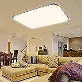 HG® 48W LED Deckenlampe Wohnzimmer Badlampe eckig Warmweiß Energiespar Energiesparende Möbeleinbauleuchte Lampe