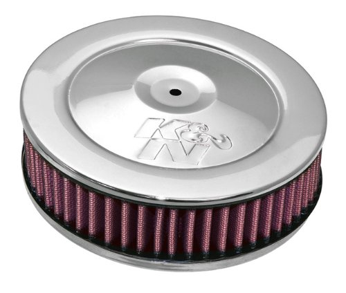 60–1010K & N rund Air Filter Assembly 2–5/16flg; 17,8cm D; 7,6cm H ASSY. W/Vent (echtes KN Zubehör)