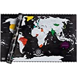 Scrape off World Map Limited Edition - Weltkarte zum Rubbeln - Landkarte Deluxe Wandbild Luxus Poster XXL