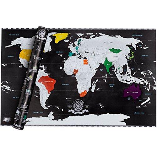 Scrape off World Map Limited Edition - Weltkarte zum Rubbeln - Landkarte Deluxe Wandbild Luxus Poster XXL