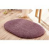 Vvciic Antirutsch-Pad Fußmatte, oval, Violett