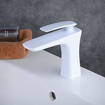 Beelee Weiss Lack Einhebelmischer Wasserhahn Bad Armaturen Waschtisch Waschbecken  Armatur Mischbatterie Badarmatur Waschtischarmatur Waschbeckenarmatur ...