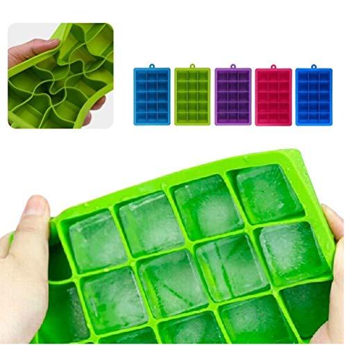 1x grüne Form für EIS-Form-Behälter Frucht-EIS am Stiel Eiscreme-Hersteller für Wein-Party Kitchen Bar Trinken Zubehör 5 Farben