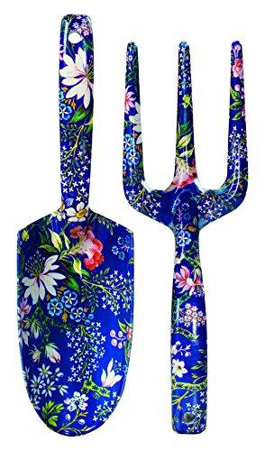 va-kilburn-fork-and-trowel-with-floral-print-dark-blue