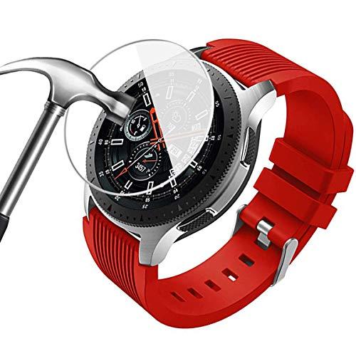 [3 Stück] FUMUM Panzerglas für Samsung Galaxy Watch 46mm Glas,Premium HD Glasfolie 9H Schutzfolie für Samsung Watch 46mm Folie,Samsung Gear S3 Frontier und Gear S3 Classic [Anti Fingerabdruck]