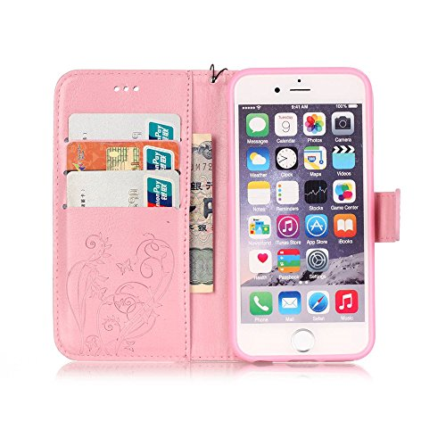 Nutbro iPhone 6s/6 Case, iPhone 6s/6 Wallet Case, Premium PU Leather Flip Folio Wallet Case with Card Slot, Cash Clip, Stand Holder and Magnetic Closure YB-iPhone-6S-227