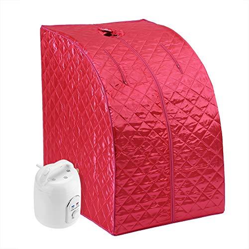 Heimsauna Aufblasbare Sauna Tragbare Mobile Dampfsauna Zuhause Dampfsauna Sitzsauna Minisauna Personal Spa Body Heater für Entgiften Abnehmen Gewicht(EU) (Rot Mechanisch 1,5 L)