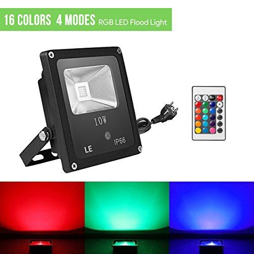 LE-Foco-LED-RGB-Exteriores-10W-Modos-de-luz-Proyector-LED-de-colores-Decoracin-de-jardn-terraza-Navidad