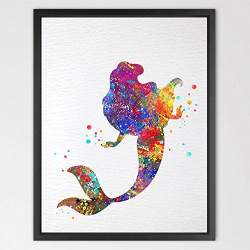 dignovel Studios Meerjungfrau Ariel Disney Princess Aquarell Art Print Wall Art Girls Poster Room Decor Art Aufhängen Kids Art Geburtstag Geschenk eine Hochzeit n015-unframed