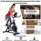 Sportstech Profi Indoor Cycle SX200 mit Smartphone App,22KG Schwungrad,Armauflage,Pulsgurt kompatibel-Speedbike mit flüsterleisem Riemenantrieb-Fahrrad Ergometer bis 125Kg (SX200 - Aufgebaut)