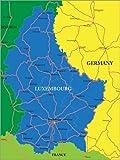 Poster 60 x 80 cm: Luxemburg von Editors Choice -