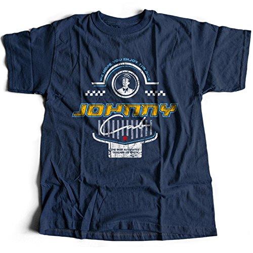 9382n Johnny Cab Herren T-Shirt Federal Colonies Mars Colony Recall Kuato Memory Lives Rekall Mine Total Moon Sarang Space Lunar(Small,Navy) (Ärmel Johnny-kragen-shirt)