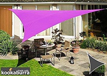 Voile d'Ombrage Violet Triangle 5m - Imperméable - 160g/m2 - Kookaburra