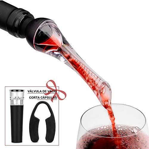 ¡AUMENTE EL SABOR Y EL CUERPO DE SUS VINOS! El aireador de vino Mafiti le ayuda a obtener el máximo cuerpo de su vino y maximiza su potencial.El diseño compacto es perfecto para llevar a fiestas y eventos.  ¡Haga que su vino normal sepa igual que uno...
